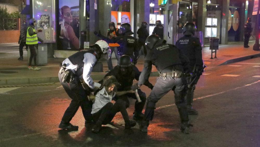 Càrrega dels Mossos d'Esquadra a Tarragona, divendres passat