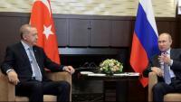 Els presidents turc i rus, reunits ahir a la ciutat russa de Sotxi per parlar de Síria