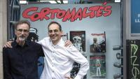 Rubén Pellejero i Juan Díaz Canales, a la llibreria Norma Còmics.