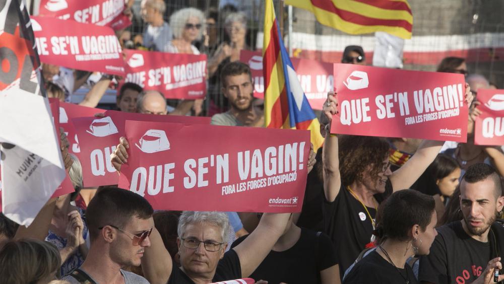 Concentració a Sabadell el 28 de setembre passat, en suport als set detinguts dels CDR