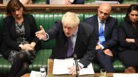 Boris Johnson, primer ministre britànic, ahir a la Cambra dels Comuns