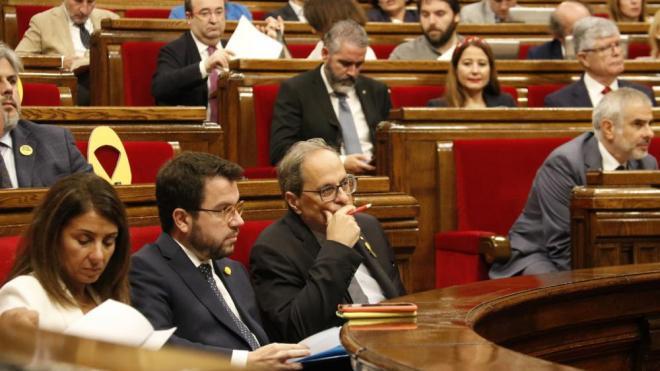"""Aragonès recrimina a Ciutadans que vulgui imputar al Govern un """"delicte de malversació sense despesa"""" per l'1-O"""