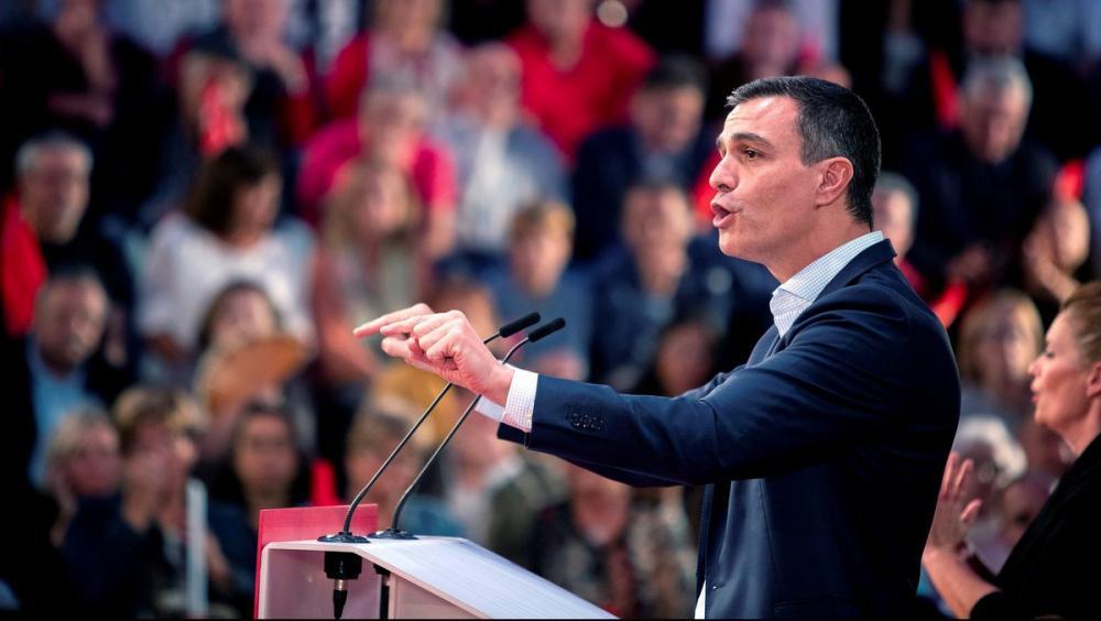 El president del govern espanyol en funcions, Pedro Sánchez, en un acte ahir dimarts a Cadis