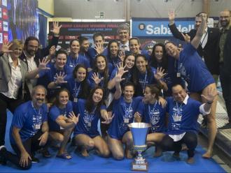 La plantilla del CN Sabadell que va assolir la cinquena Eurolliga a Can Llong