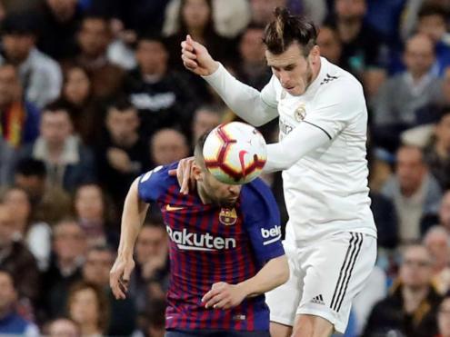 Jordi Alba i Gareth Bale en el clàssic del 2 de març