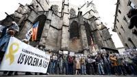 La protesta al centre de Barcelona