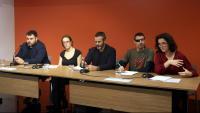 Els representants de les entitats a la roda de premsa