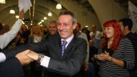 Josep Anglada, en un acte de campanya de Plataforma per Catalunya el 2011