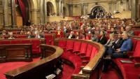 Imatge del ple del Parlament ahir durant la primera sessió