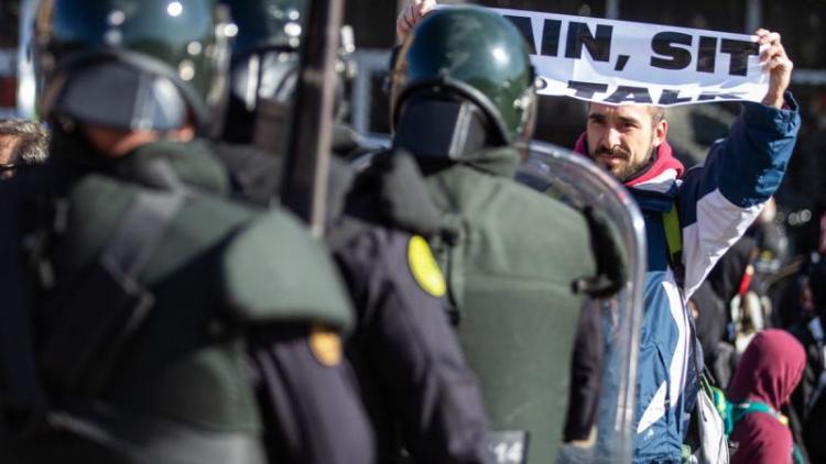 Escopeters de la Guàrdia Civil a la Jonquera