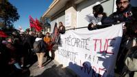 Manifestació en suport de l'estudiant que es va calar foc a Lió, dimarts passat a Montpeller