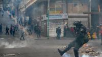 Un policia en els aldarulls que hi va haver dimecres a La Paz
