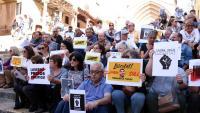 Concentració a Tarragona,  en suport dels dos empresonats