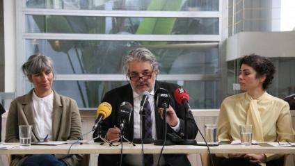 Alguns dels observadors i coordinadors de la plataforma ITW, en la presentació de l'informe, ahir a Madrid