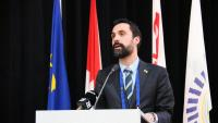 El president del Parlament, ahir en la cimera europea de cambres francòfones