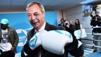 Nigel Farage en un acte de campanya a Londres