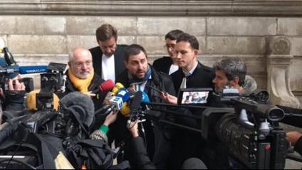 Toni Comín i Lluís Puig atenen els mitjans aquest divendres a Brussel·les