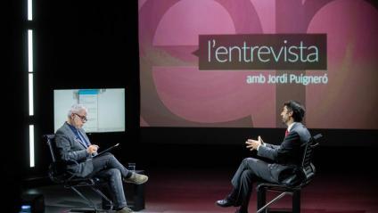 El conseller Jordi Puigneró, entrevistat pel periodista Xevi Xirgo.