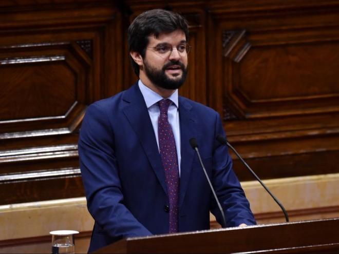 El president de la UFEC, Gerard Esteva, durant la seva intervenció al Parlament