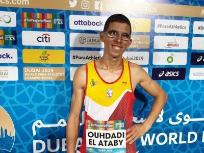 Yassine Ouhdadi en el mundial de Dubai