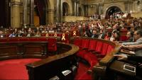 Una vista general del ple del Parlament el 2018