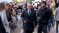 El president de la Generalitat, Quim Torra, a la seva arribada al Tribunal