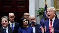 El president dels Estats Units, Donald Trump, en un acte a la Sala Roosevelt de la Casa Blanca, a Washington