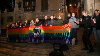 Concentració de rebuig de l'atac feixista a l'espai LGTBI de Girona l'any passat