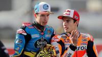 Àlex Márquez i Marc Márquez, abans de començar l'última cursa del campionat del món de Moto GP al circuit de Xest