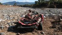 En aquest estat va quedar un dels vehicles que van ser arrossegats pels aiguats