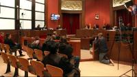 Imatge de la sala del TSJC on dilluns es va celebrar el judici a Torra