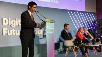 El conseller Jordi Puigneró durant el discurs inaugural