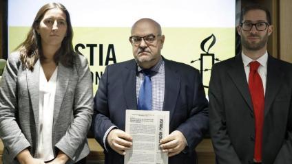 Adriana Ribas, Esteban Beltrán i Daniel Joloy d'Amnistia, ahir