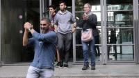 L'activista a la sortida dels jutjats el passat 23 d'octubre