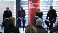 Josep Huguet, Marcel Mauri, Rosa Sants i Carles Vallejo a l'acte celebrat aquest dimecres