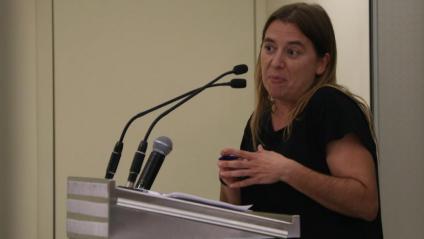L'ex diputada d'En Comú Podem i membre del corrent Desbordem, Sònia Farré