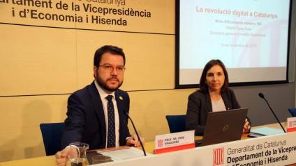 El vicepresident Pere Aragonès, divendres passat, quan va anunciar la retallada d'un 30% de les taxes universitàries el curs vinent si s'aprova el nou pressupost