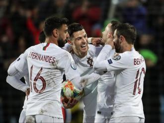 Ronaldo, felicitat per la resta de portuguesos pel gol de la sentència