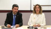 La consellera Chacón, amb el president de la Cambra de Barcelona, Joan Canadell