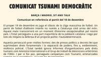 El comunicat del Tsunami Democràtic