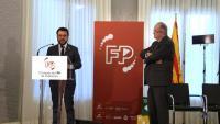 El vicepresident Aragonès, amb Josep González, president de Pimec, organitzador del Congrés