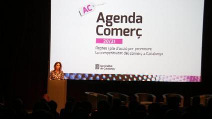 La consellera Àngels Chacón, durant la presentació de l'Agenda Comerç 20/21