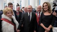 El president rus, Vladímir Putin, durant la cerimònia que es va fer dijous al Kremlin, a Moscou