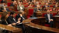 L'hemicicle en un ple del Parlament