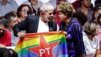 Lula i Dilma Roussef en el congrés del Partit dels Treballadors de São Paulo