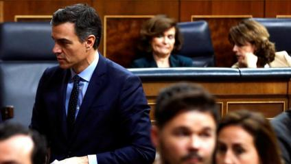 Sánchez i Rufián s'encreuaven dimarts en el ple inaugural del Congrés