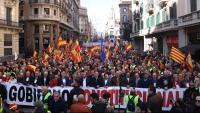 La manifestació en defensa de la Constitució a Barcelona