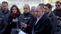 L'alcalde de les Franqueses del Vallès, Francesc Colomé, i el conseller Damià Calvet, en l'acte d'ahir al matí