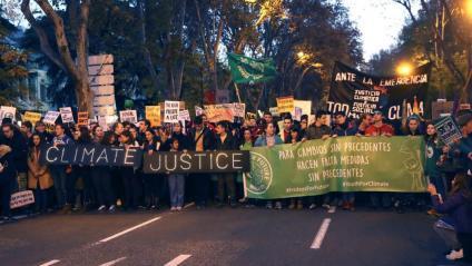 Capçalera de la Marxa pel Clima que es fa a Madrid