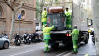 Servei municipal de neteja de Barcelona en una imatge del passat novembre